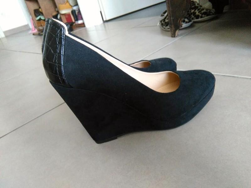 Chaussure compensée noir h&m