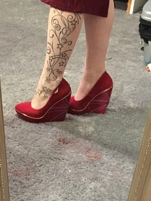 Chaussures talons compensés en anglais