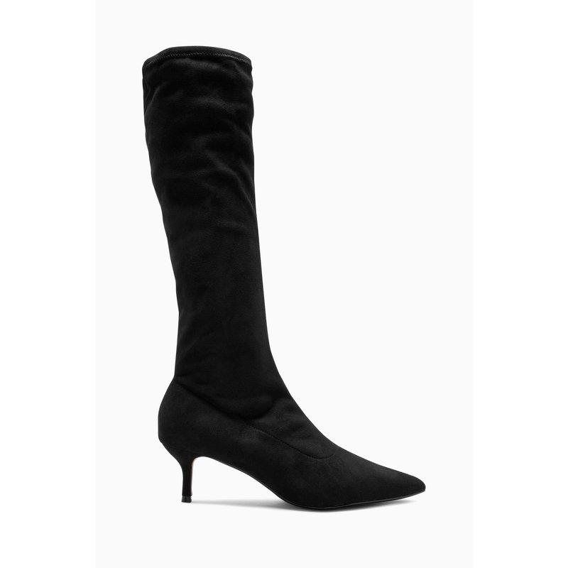 Bottes chaussettes noires femme