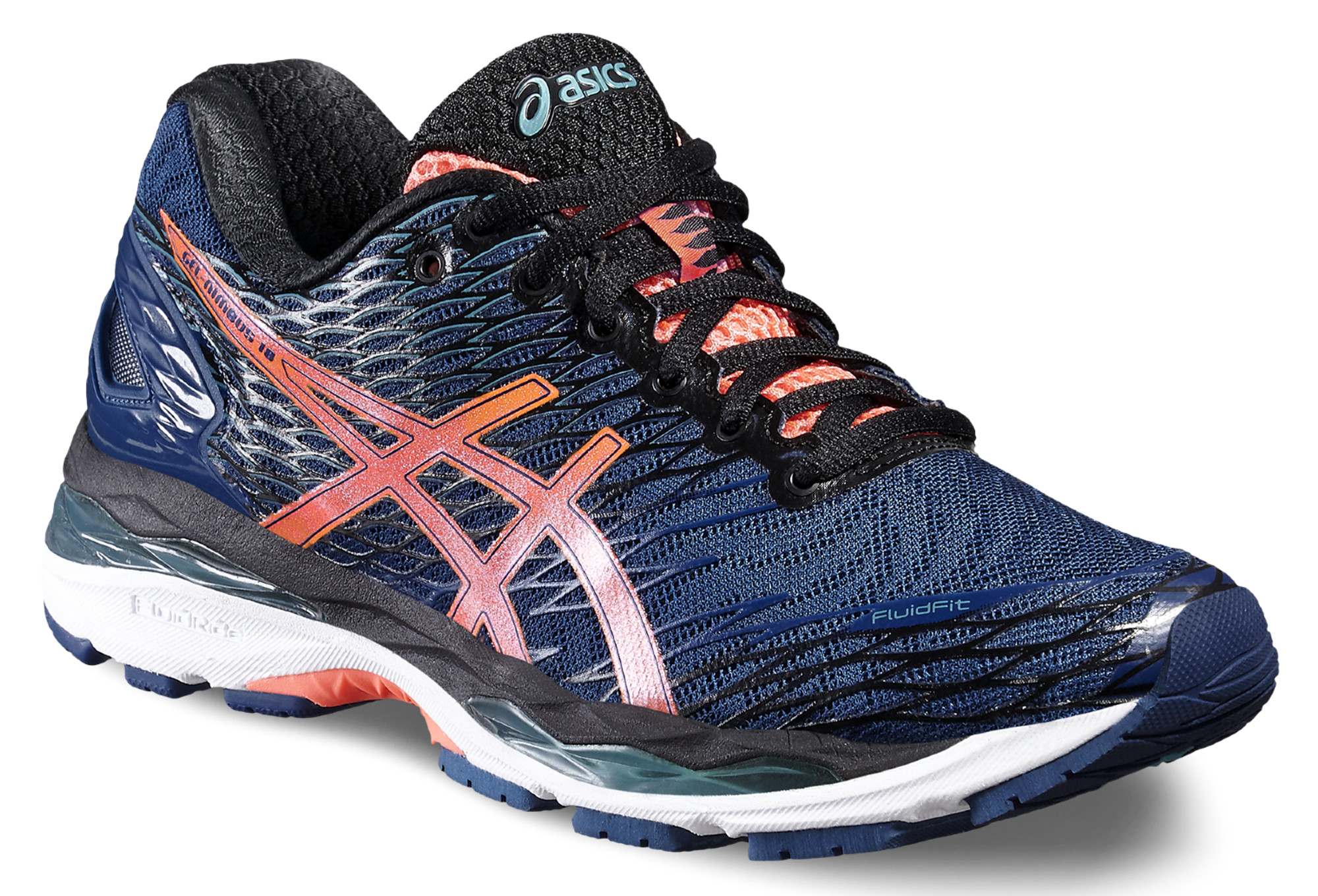 Chaussures running homme asics gel nimbus 18 bleu/orange asics