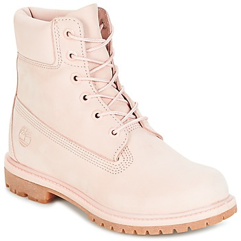 Bottines femme rose pale