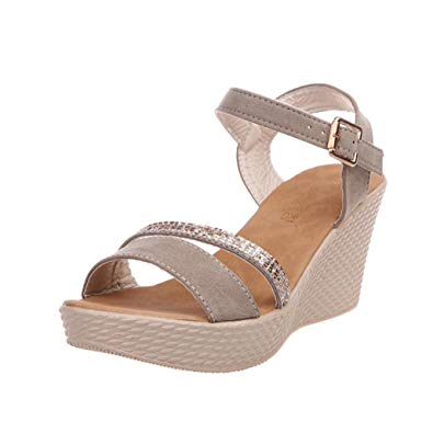 Chaussure femme talon compensé
