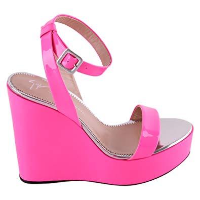 Chaussures femme compensées fushia