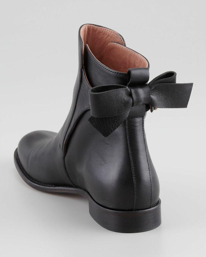 Boots femme cuir noir