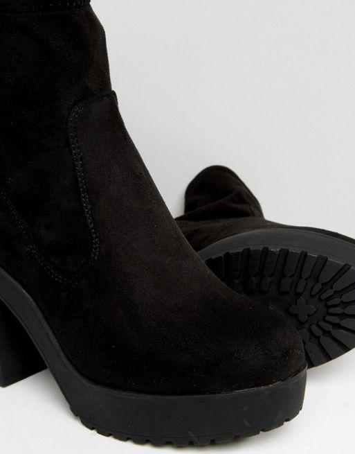 Bottines chaussettes femme