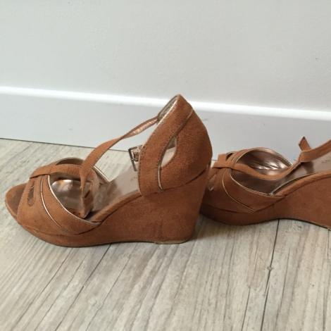 7d44a3bbd5d1ec Promod chaussure compensee camel - Sebola.fr