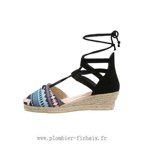 Chaussure compensée noire ete