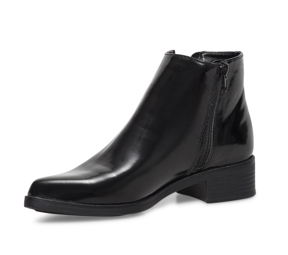 Boots noires plates