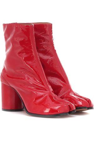 Bottines femme vernis rouge
