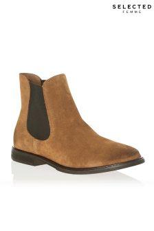 Boots femme beige