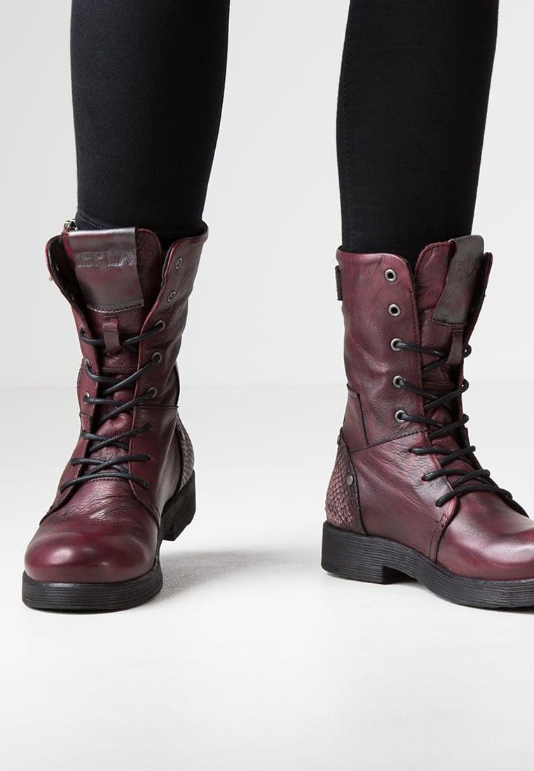 Boots bordeaux femme