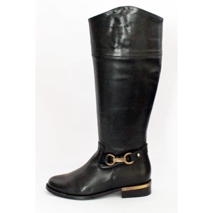 Bottes cuir noir