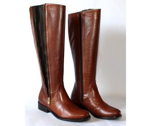 Bottes en cuir marron