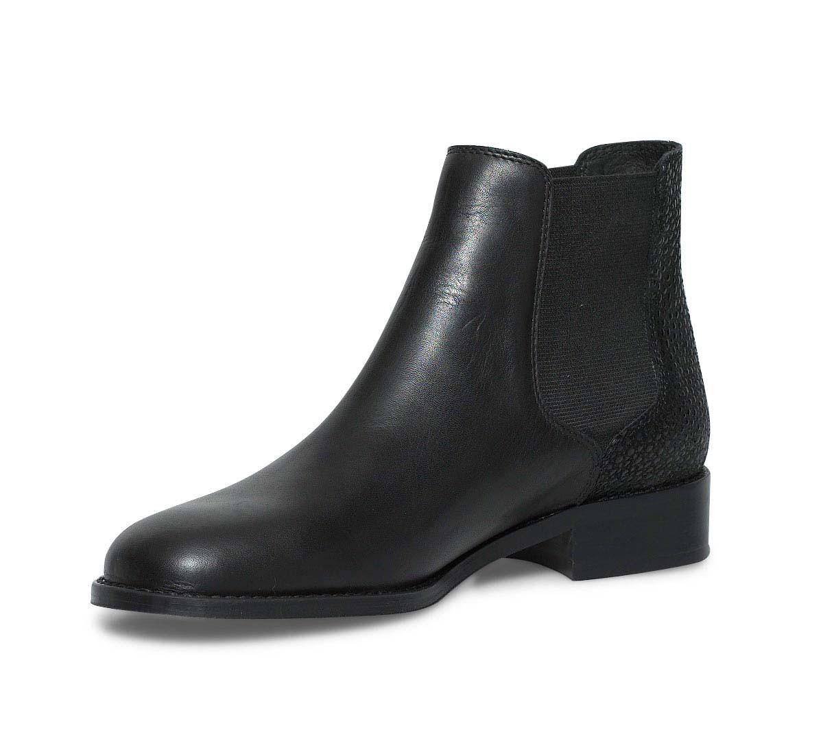 Bottes femme cuir noir plates