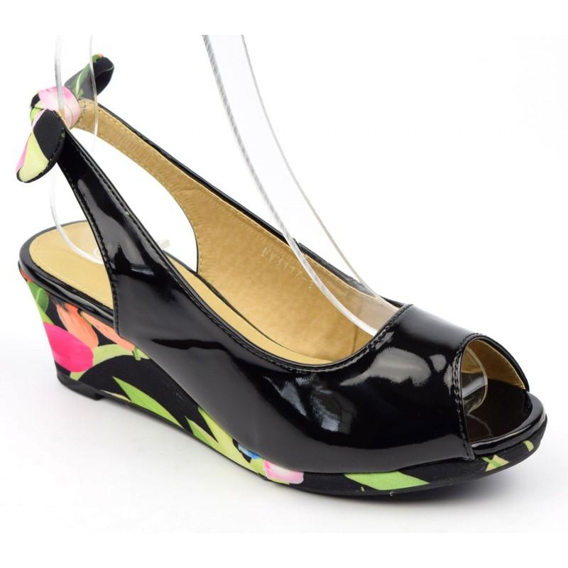 Chaussure compensée 6 cm