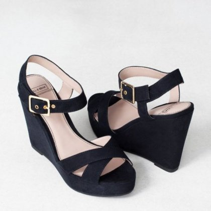 Chaussure compensée pull and bear