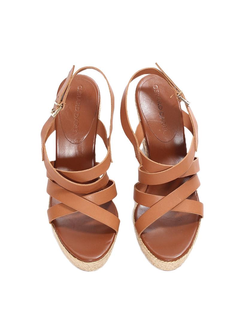 Chaussure compensée marron