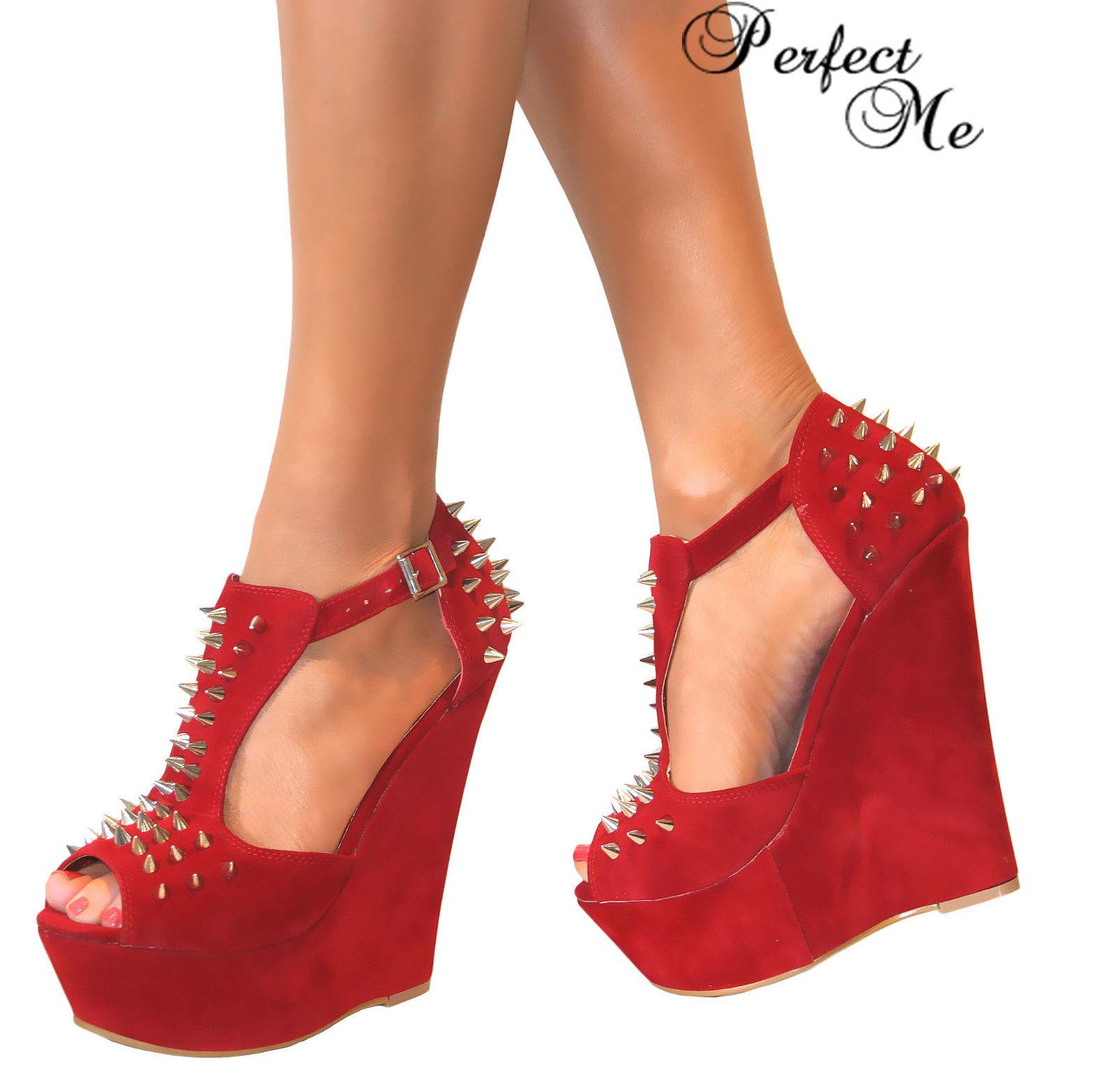 Chaussure compensée haut talon