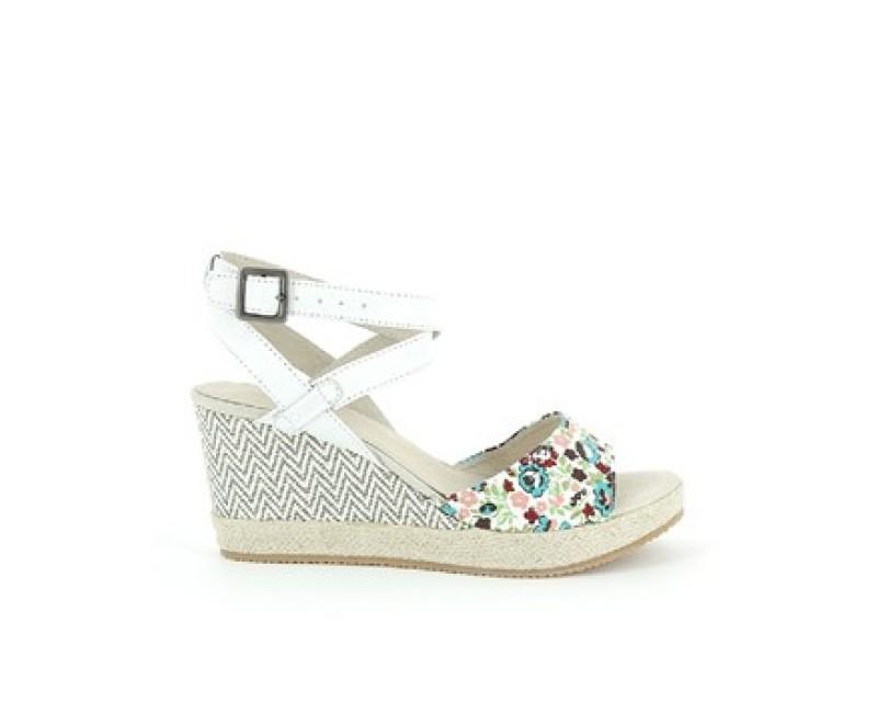 Chaussure compensée blanc pas cher