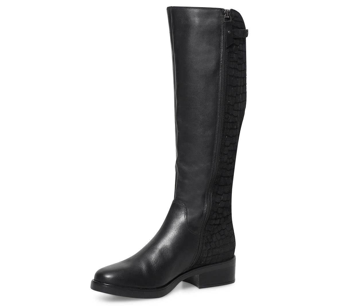 Bottes noires femme cuir