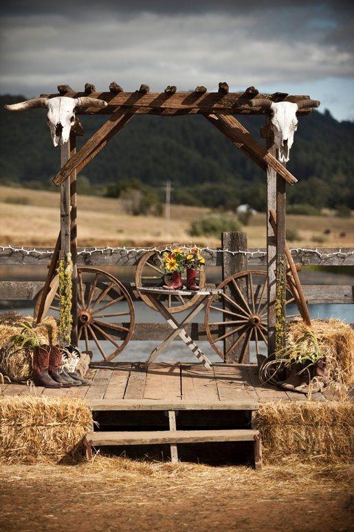 Botte de paille western