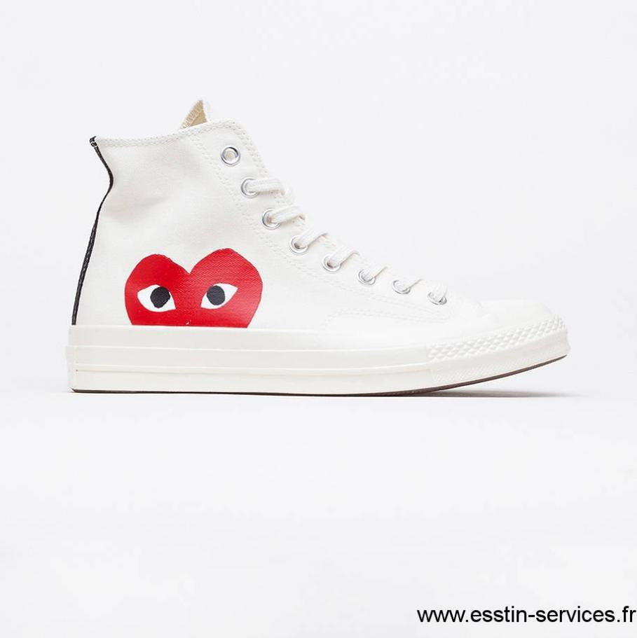 converse basse blanche femme taille 41