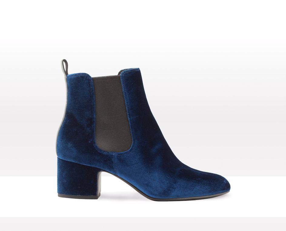 Bottines bleues