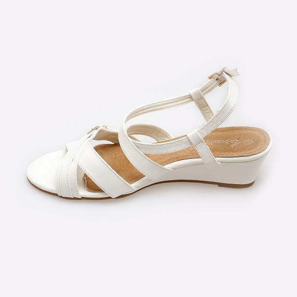 Chaussure compensée femme blanche
