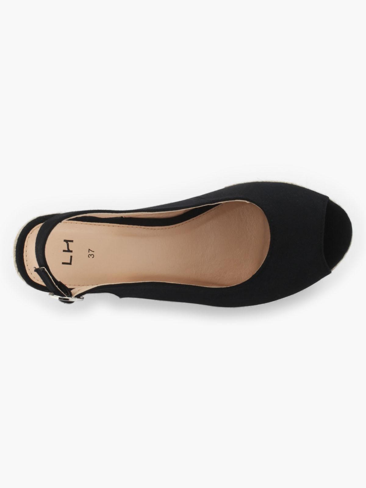Chaussures compensées noires la halle
