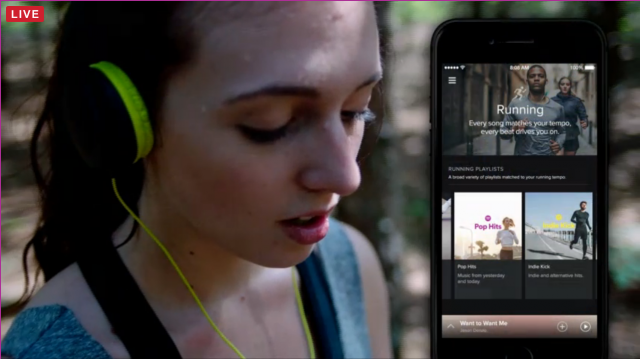 Nike running with spotify