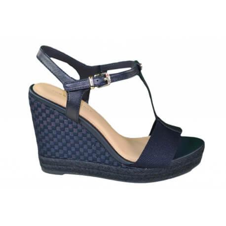 Chaussures compensées femme bleu marine