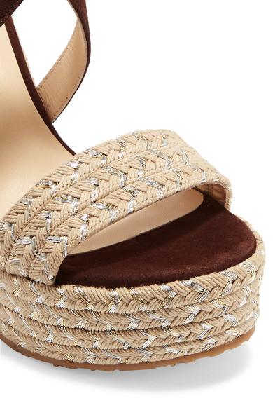 Sandales espadrilles compensees