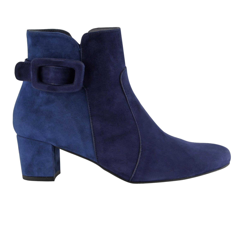 Bottine femme cuir bleu