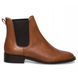 Chaussures femme cuir bottine