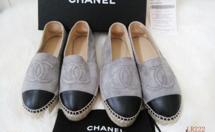 Espadrilles chanel leather