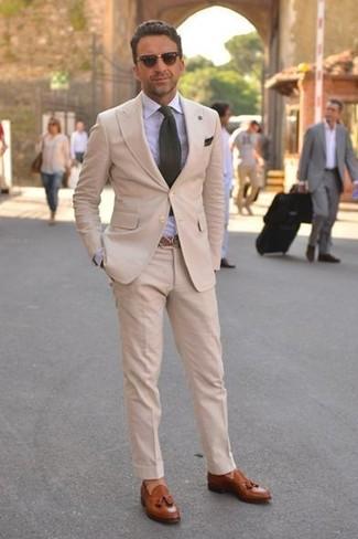 Couleur chaussure avec costume beige