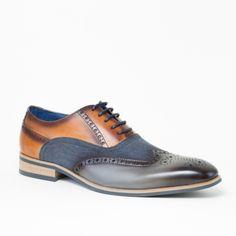 Chaussure de ville bicolore