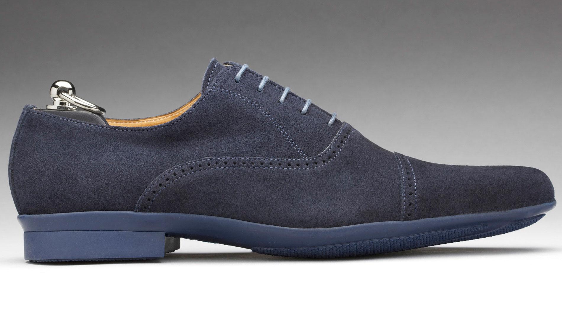 Chaussure de ville homme cuir bleu