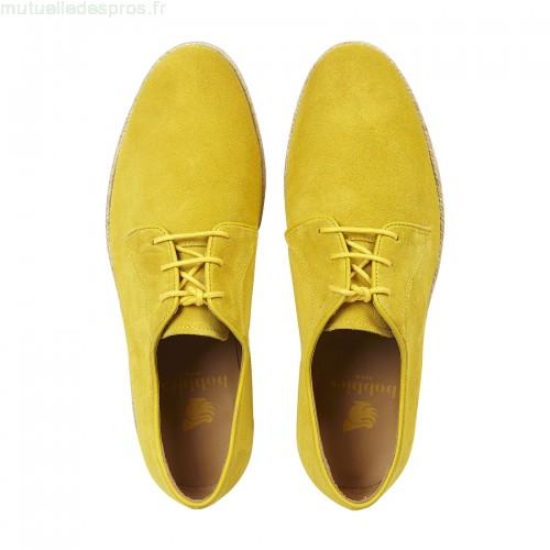 Chaussure de ville jaune homme