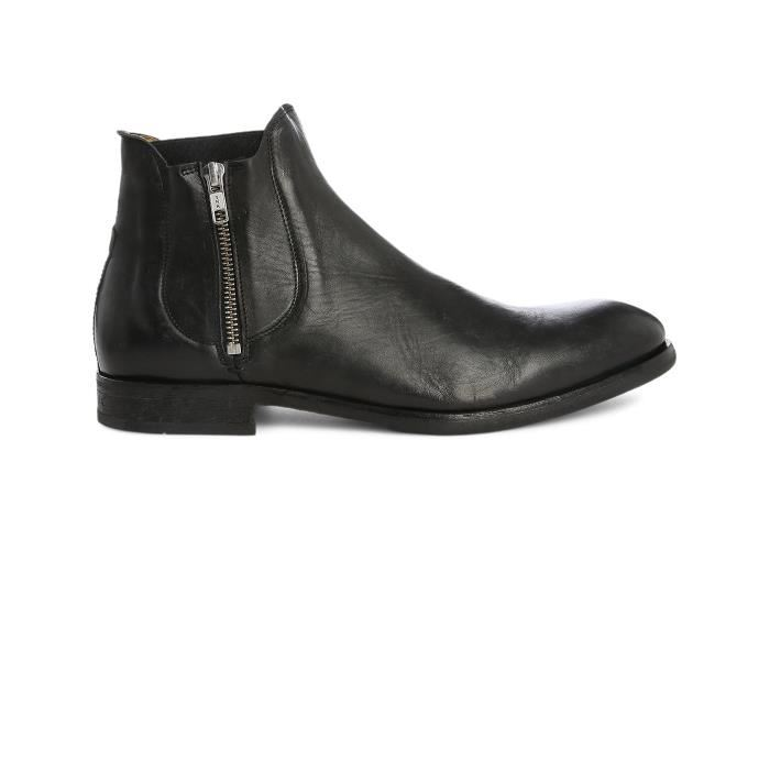Bottine homme cuir zip