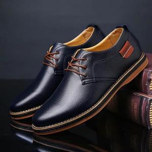 Chaussure de ville homme bleu roi