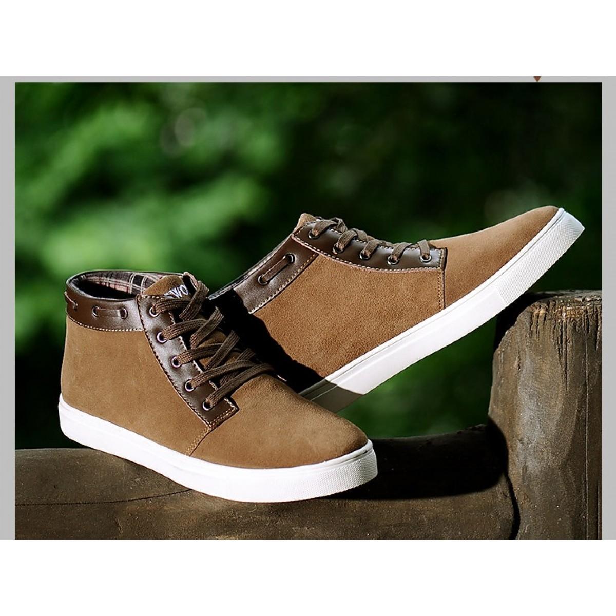 Chaussure de ville cuir montante