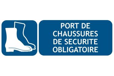 Obligation port chaussure de sécurité