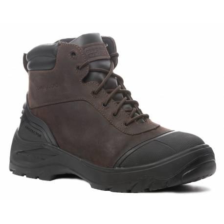Chaussure de securité cuir marron